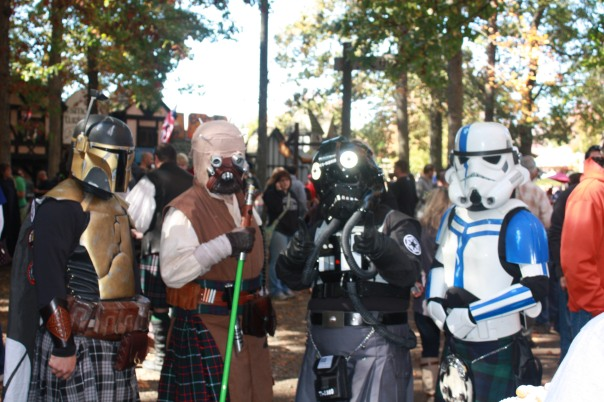 Kilts, Darth Vader, Boba Fett, storm trooper, Scottish, kilt